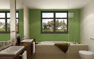 Фальш окно в ванной