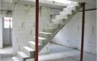Монолитные лестницы из бетона технология