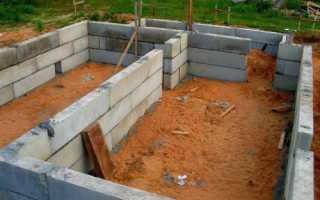 Какие блоки можно использовать для фундамента