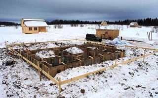 Заливка фундамента зимой без прогрева
