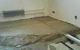 Тонкая стяжка пола на бетонное основание