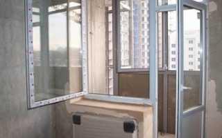 Соединение балконной двери с окном
