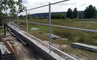 Забор из металлопрофиля своими руками с фундаментом