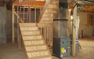 Винтовая лестница в подвал своими руками