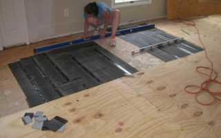 Выравнивание бетонного пола фанерой под ламинат