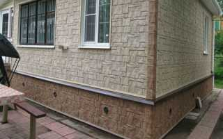Установка цокольного сайдинга на свайный фундамент