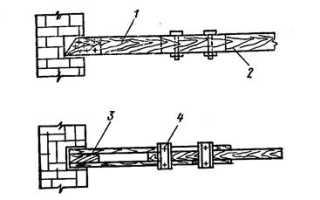 Усиление деревянных балок перекрытия накладками