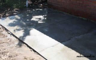 Устройство бетонной площадки по грунту