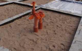 Какой песок нужен для подушки под фундамент
