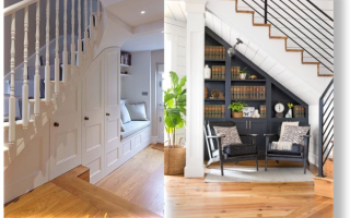Кладовка под лестницей в частном доме