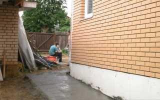Как правильно делать бетонную отмостку