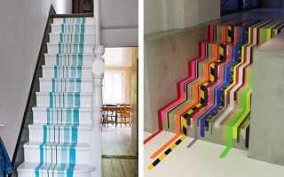 Декорирование лестницы своими руками