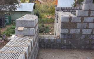 Фундамент под одноэтажный дом из керамзитобетонных блоков
