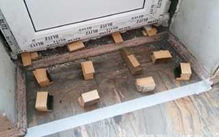 Установка порога на балконную дверь