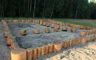 Фундамент из бревен лиственницы
