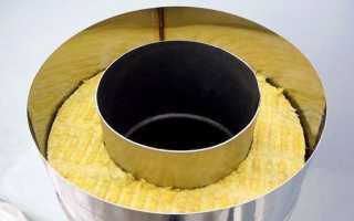 Изоляция печной трубы в перекрытии