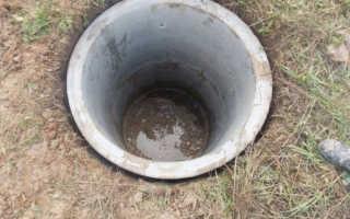Устройство водопроводного колодца из бетонных колец