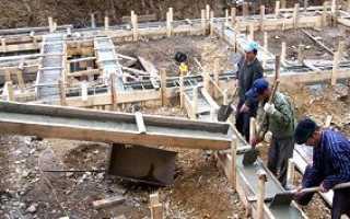 Глубина фундамента для одноэтажного дома из пеноблоков
