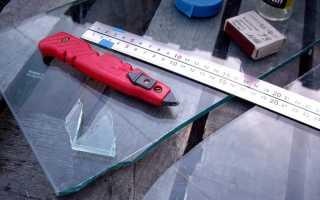 Можно ли резать каленое стекло стеклорезом