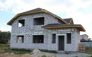 Фундамент под двухэтажный дом из пеноблоков