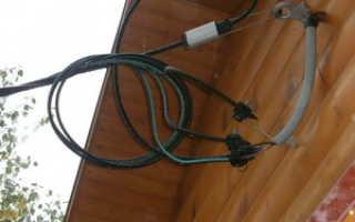 Ввод кабеля в здание через фундамент