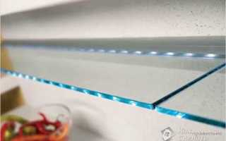 Торцевая подсветка стекла