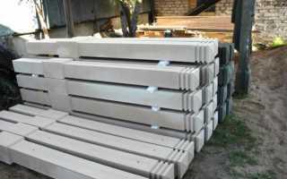 Забор из бетонных столбов и цементного цоколя