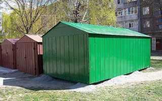 Ремонт металлического гаража своими руками