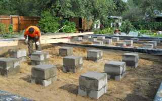 Столбчатый фундамент своими руками для каркасного дома