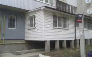 Строительство балкона на первом этаже согласование