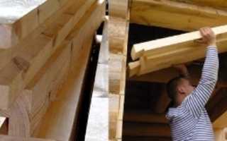 Заделка оконных проемов в деревянном доме