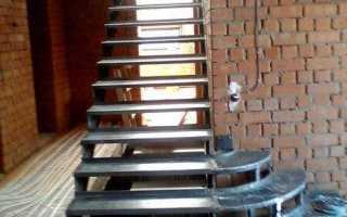 Металлическая лестница с деревянными ступенями своими руками