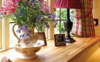 Чем обработать деревянный подоконник