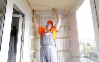 Как утеплить потолок на балконе своими руками