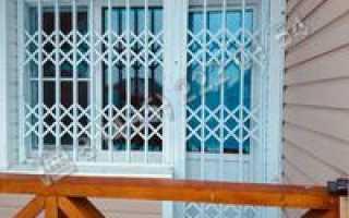 Металлические раздвижные решетки на окна
