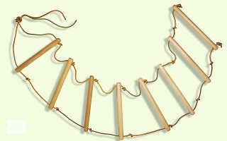 Как сплести лестницу из веревки