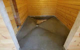 Бетонный пол в деревянной бане своими руками