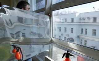 Как убрать самоклеющуюся пленку со стекла
