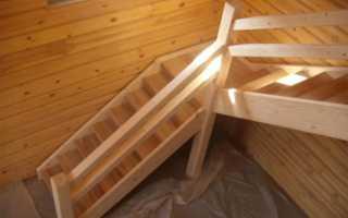 Лестница в срубе своими руками