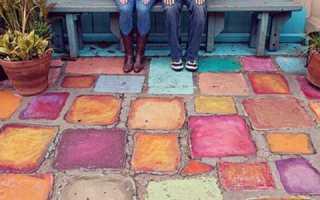 Чем покрасить бетонную дорожку на улице