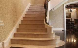 Отделка ступеней бетонной лестницы плиткой