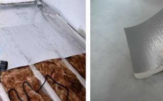 Утепление бетонного пола изолоном